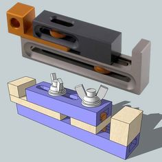 Kerf Dado Setting Jig made from a T-track