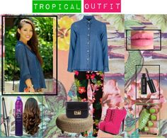 """""""Tropical outfit"""" by nessa-andreen ❤ liked on Polyvore"""