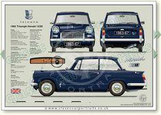 1960s Cars, Retro Cars, Vintage Cars, Classic Motors, Classic Cars, Automobile, Car Prints, Classic Mercedes, Car Drawings