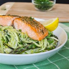 Baked Salmon with Creamy Lemon Dill Pasta - The Kitchen Table - The Eat-Clean Diet®