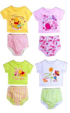 1ae62f6ac7 Disney Baby Newborn Girl Tee Shirt Diaper Cover Gift Set Infant NB 3 6 9  Months