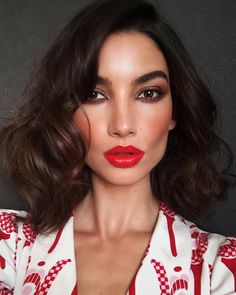 "11k Likes, 69 Comments - Hung Vanngo (@hungvanngo) on Instagram: ""Tomato or tomatoe?@lilyaldridge❤️ #holidaymakeup.  @daniellepriano  @hungvanngo"""