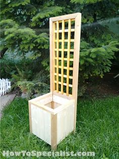 Diy Trellis Planter build without trellis for outside classroom windows