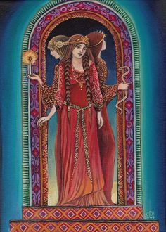 Hecate - Goddess of Crossroads - 5x7 Greeting Card