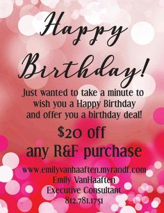 Rodan and Fields birthday certificate