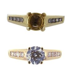 Before and after pictures. We remade this piece of jewellery to dazzle as it would have originally!
