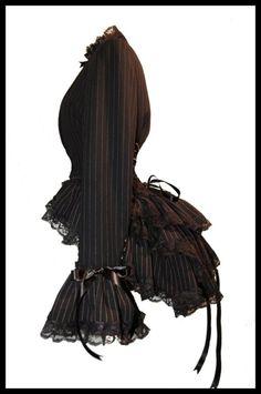 Victorian inspired modern bustle jacket