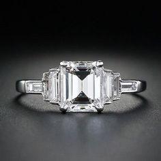 Lang Antiques Emerald Cut Art Deco Ring – Love the Milgrain! LOVE, LOVE, LOVE THIS!!