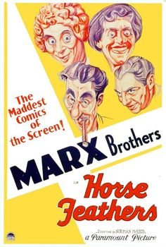 """MARX BROTHERS in the film """"Horse Feathers"""""""