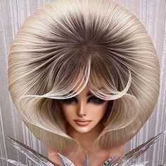 Hairspray, Big Hair, Hair Designs, Hair Looks, Video, Bob Hairstyles, Updos, Blond, Wigs