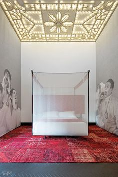 In Catania, Italy, Studio GUM transformed the breakfast room at the Asmundo di Gisira with illustrations by Daniel Egnéus, rendered as custom wallpaper. Photography by Fi...