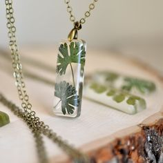 Terrarium necklace Nature necklace fern jewelry eco от EightAcorns