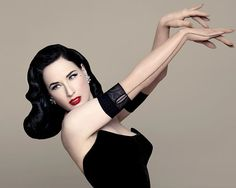 """TEESE TUESDAY: And now, for a very welcome moment of beauty and wit: a previously unseen image of Dita wearing a pair of Dita Von Teese Brand @ditavonteese opera-length gloves that cleverly mimic her fully-fashioned """"Daytime Glamour"""" stockings (we'll update this post with info on where this particular pair of gloves are available soon, in the meanwhile head to Justoneeye.com and Gasparglovesstore.com to see the rest of the glamorous, gorgeous collection). #teesetuesday #ditavonteese #dita…"""