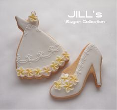 happy wedding motif cookie w/ plumeria