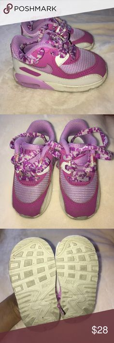 NIKE Baby Shoes Good-Used Condition; Purple, Pink and White; Lace UP; Size 6C. Nike Shoes Sneakers