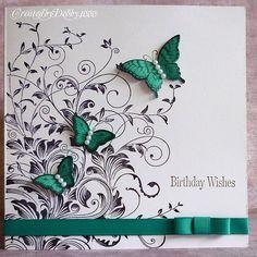 A Scrapjourney: B with a Splash of Colour.  Simple idea turned into a beautiful card!