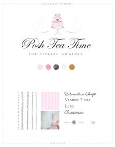 POSH TEA TIME Logo | Look & Feel | Illustrations | Website Posh Tea Time is a small baking company specializing in wedding cakes and high teas. I was asked to design a pretty and sweet website with pink and gold to give a real luxury and fun feel to complement the cakes and sweets by Posh Tea Time. www.poshteatime.nl