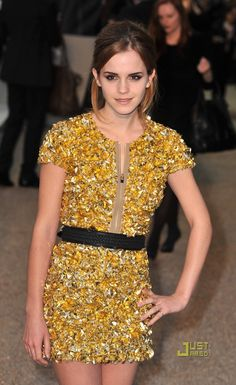 Emma Watson at the Burberry Prorsum Spring/Summer 2010 show during London Fashion Week in London-England, September 2009