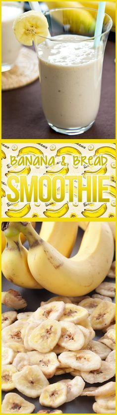 Banana Bread Smoothie --quick and easy, full of protein, and it tastes like the bread that inspired it!