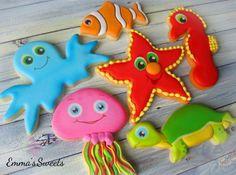 Under the sea - sea creature cookies