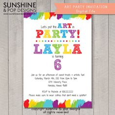 Baby shower games finish daddys phrase many unique game to choose printable art party invitation birthday diy rainbow paint party invite diy paint arts crafts stopboris Images