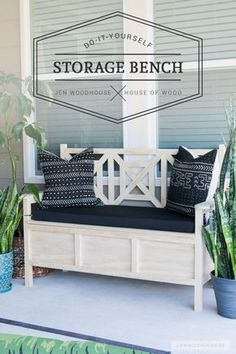 How to build a DIY outdoor storage bench with beautiful fretwork panels and hidden storage under the seat. How to build a DIY outdoor storage bench with beautiful fretwork panels and hidden storage under the seat. Diy Storage Bench, Kid Toy Storage, Ikea Storage, Diy Bench, Hidden Storage, Storage Shelves, Outdoor Storage, Kitchen Storage, Storage Baskets