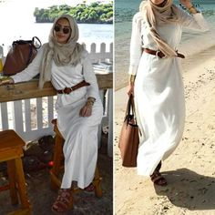 Hijab fashion inspiration – Just Trendy Girls Hijab Fashion Summer, Muslim Fashion, Modest Fashion, Unique Fashion, Fashion Looks, Fashion Outfits, Abaya Fashion, Fashion Women, Simple Outfits
