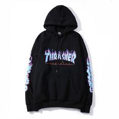 2020 homens mulheres moda Thrasher Chama Fogo Skate Hip-Hop Moletom Com Capuz Hoodie Sweatshirts, Pullover Hoodie, Sweater Hoodie, Thrasher Sweatshirt, Stylish Hoodies, Comfy Hoodies, Hoodies For Men, Hoodie Outfit, Hipster Outfits
