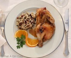 Slow Cooker Cornish Game Hens with Grand Marnier Sauce-Fantastic slow cooker recipe for Grand Marnier Cornish Game Hens and Wild Rice with Cranberries and Pecans. The perfect easy holiday dinner recipe! Best Slow Cooker, Slow Cooker Recipes, Crockpot Recipes, Cooking Recipes, Recipe For Grand Marnier, Cornish Game Hen, Cornish Hens, Turkey Recipes, Chicken Recipes