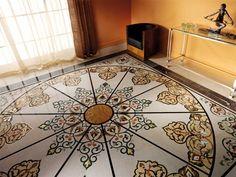 "budri, ""Arabesque"" 380cm*380cm Italian Marble, Arabesque, Flooring, Contemporary, Rugs, Classic, Tiling, Electric, Home Decor"