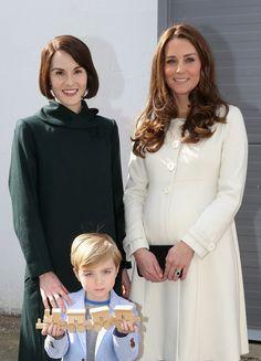 Kate Middleton Photos: The Duchess Of Cambridge Visits The Set Of Downton Abbey At Ealing Studios