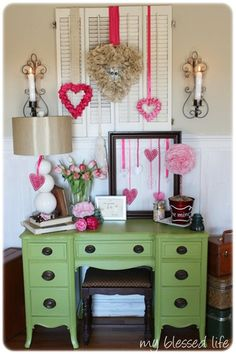 """REALLY like the idea of taking shutters, and adjusting them to the right height, depending on your mantle, and using them as a """"backdrop"""" for wreaths and such during the Holidays"""