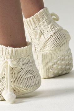 короткие белые вязаные носки