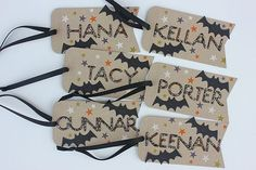 Personalized Halloween Tags by Heather Nichols for Papertrey Ink (September 2014)