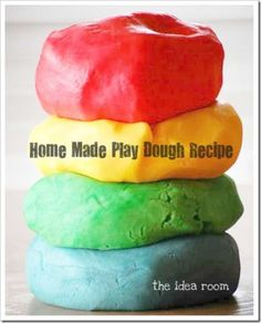 Home Made Play Dough Recipe | This play dough is so soft and the kids will play with it for hours.  Lasts several months in air tight container. | theidearoom.net