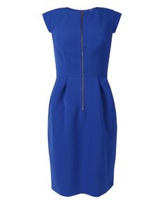 Rebecca Taylor Crepe Dress in Electric Blue | eLUXE
