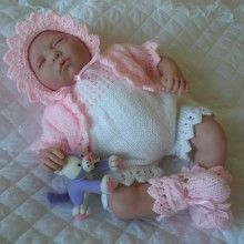 f0bc6ac00be0 Baby Dolls Knitting Pattern Romper Suit Set For Doll Premature Baby