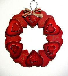 Buy Valentines Day Wreaths in United States - TOP Valentines Day Wreaths 2020 Deals For Sale Prices Valentine Day Wreaths, Valentines Day Hearts, Valentines Day Decorations, Valentine Day Love, Valentine Crafts, Holiday Wreaths, Wood Wreath, Tinsel Garland, Heart Wreath