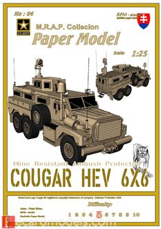1/25 Force Protection Cougar HEV 6x6 - Paper Model