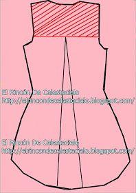 El Rincon De Celestecielo: Trazar cola de pato en espalda de blusa y vestido. Parte 2 Line Chart, Sewing Patterns, Couture, Outfits, Skirt, Sewing Lessons, Sewing Techniques, Little Girl Clothing, Blouse
