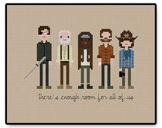 The Walking Dead Season Four - Prison - Cross Stitch PDF Pattern Gifts for him - Pixel People - Unique - TV - Movie - Walker - Zombie Undead The Walking Ded, Walking Dead Season, Cross Stitching, Cross Stitch Embroidery, Cross Stitch Patterns, Walker Zombie, Perler Bead Art, Alpha Patterns, Game Character