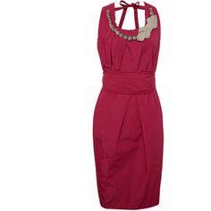 Hoss Intropia Embellished Neck Dress