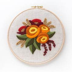 Autumn Bouquet Needle Felting Kit beginner friendly   Etsy Embroidery Patterns, Cross Stitch Patterns, Felt Embroidery, Needle Felting Tools, Fall Bouquets, Bridal Bouquets, Fabric Pictures, Muslin Fabric, Fabric Squares