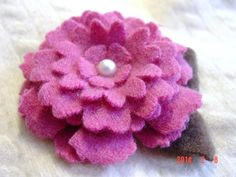 Pink CASHMERE FLOWER BLOSSOM Petal Fleur by CustomWarmWoolies, $14.00