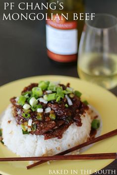 PF Chang's Mongolian Beef Copycat Recipe. Easy to veganize; replace beef with seitan or tofu. Try with coconut rice.
