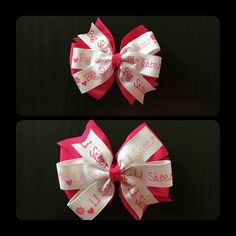 Big Sister & Little Sister Hair Bows by CreationsByDMPN on Etsy
