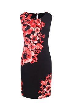 Chicwe Women's Placement Print Sleeveless Shift Dress US8