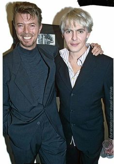 David Bowie & Nick Rhodes,Circa above, and below late 😘 David Bowie, Tin Machine, Nick Rhodes, Goblin King, Inspirational Music, King David, John Taylor, Soundtrack To My Life, Someone Like You