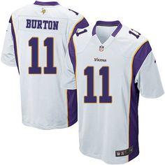 f9655232e Men s Nike Minnesota Vikings  11 Stephen Burton Game White NFL Jersey Sale  Steelers Ryan Shazier