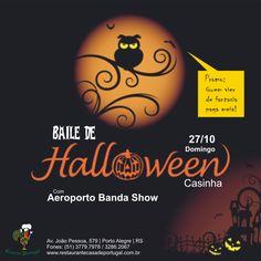 Baile de #Halloween no Casinha, venha fantasiado(a) e pague meio-ingresso!